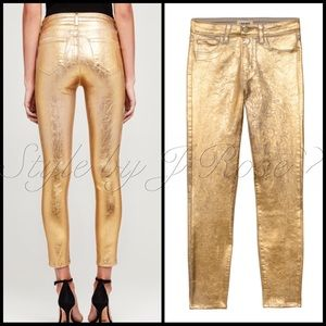 L'AGENCE Jeans - NWT's L'Agence Fashion Gold Metallic Foil Jeans